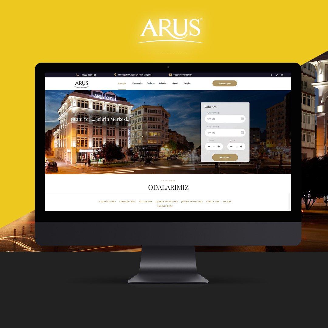 Arus Otel Web Sitesi